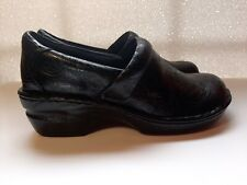 BOC BORN Concept Women's Shoes Clogs Slip On Black Paisly 8.5 Platform  EUC