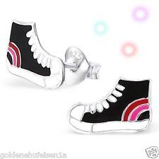Kinder Turnschuhe Sneakers Ohrstecker Echt 925 Silber Ohrringe Mädchen Schuhe
