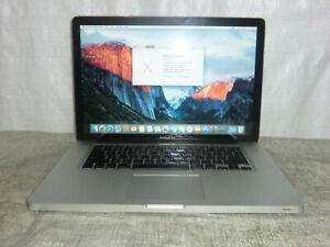 Apple MacBook Pro A1286 2009 15 Core 2Duo  2.53Ghz 4GB 500gb OSX El Capitan >?3