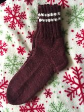 New Hand Knitted Warm Wool Socks Size 7-8