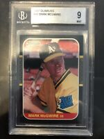 1987 Donruss #46 Mark McGwire 9 Mint Beckett. ROOKIE!!!