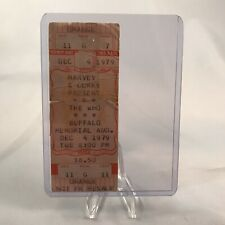 The Who Buffalo Memorial Auditorium NY Concert Ticket Stub Vintage Dec 4 1979