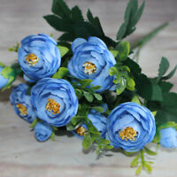 Chic Roses Artificial Flowers Fake Peonies Silk Bouquet Home Wedding Decoration