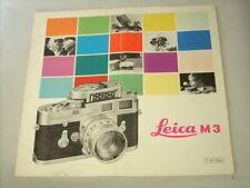 Leica M3 Brochure