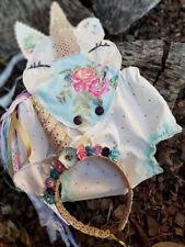 DULCE Recién Nacido Bebé unicornio flor Mono Punto Mono Disfraz Ropa Verano