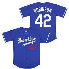 Large Jackie Robinson #42 Brooklyn Dodgers Baseball Jersey Men STITCHED