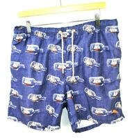Tommy Bahama Relax Mens L Lined Board Shorts Swim Trunks Suit Blue Marlin Logo