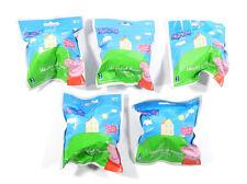 Lot of (5) Peppa Pig World of Peppa Blind Bag Plush Clips (Sealed)