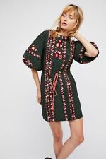 Free People Havana Peasant Embroydered Mini Dress Size Small NWT