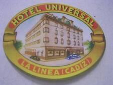 Unused Vintage Hotel Universal La Linea (Cadiz) Luggage Label