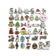 20pcs Mixed Christmas  Floating charms For Glass living memory Locket FC1108