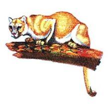 Embroidered Sweatshirt - Cougar Mountain Lion Bt4137 Sizes S - Xxl