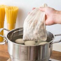 5~100x Food Filter Bag Nut Milk Tea Juice Skimmer Filtration Cotton Net 2 Sizes