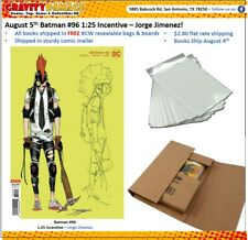 Dc Batman #96 Joker War 1:25 Incentive Aug 4th Pre-Sale Free Bag, Board & Mailer