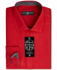 New $95 Society Of Threads 15-15.5 33/34 Men Slim-Fit Red Button Top Dress Shirt
