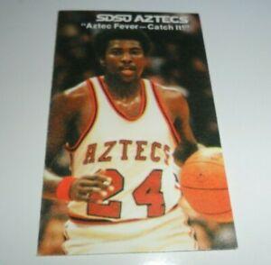 1979-1980 MINT TONY GWYNN SDSU Aztec Basketball Pocket Schedule Padres FREE SHIP