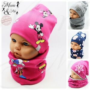 Girls Hat and Scarf Toddler Baby Set Hat Double Single Layered 2 Piece Autumn
