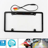 Car Backup Rear View  Camera 8 IR Night Vision US License Plate Frame CMOS Cam