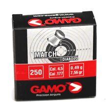 1 CAJA 250 BALINES GAMO MATCH DIABOLO CALIBRE 4,5 6320014