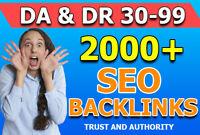 Create 2000 contextual seo dofollow high quality backlinks