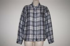 River Island silky feel shirt size 8 grey tartan