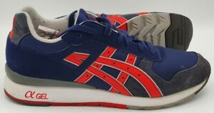 Asics GT 2 Suede/Nylon Trainers H309N Navy/Red/Blue/White UK9/US10/EU43