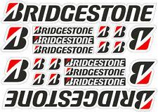 Bridgestone Tire Racing Logo Decals Stickers Graphic Set Vinyl Adhesive 20 Pcs