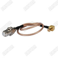 MCX-F TYPE female to MCX plug male RA Pigtail Jumper RF cable RG316 15cm