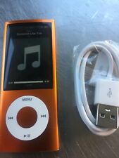 Apple iPod nano 5th Gen Orange (8 GB) Replaced Battery New LCD. Gently used