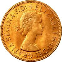 1967 BRITISH ONE PENNY COIN OF ELIZABETH II. / UNCIRCULATED - ONE/BUY