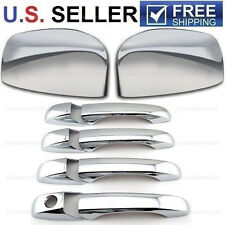 Chrome Mirror Cover + 4 Door Handle Covers For 2008-2016 Dodge Grand Caravan