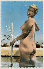 Nudism FIFTIES NACKEDEI GROSSER PO / BIG BUTT NAKED BLOND FKK * 50s Postcard AK