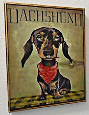 DACHSHUND TERRIER  DOG ADVERT STRETCHED CANVAS  SIGN DECOR