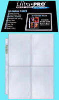 "10 ULTRA PRO PLATINUM 4-POCKET Pages Sheets Protectors Postcard Holo 3.5""x5.25"""