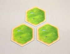 Settlers of Catan hex tiles - 5th edition - Wool/Sheep - set of 3