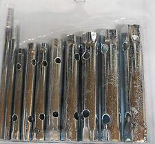 Tube Spanner Kit 6mm - 22mm Plumber Tap Kit Tubular Hex Socket Wrench Set 10pce