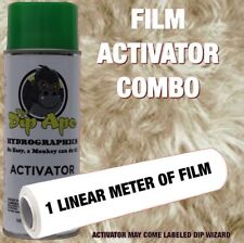 FUR ILLUSION TAN DOG DIP APE ACTIVATOR FILM COMBO HYDROGRAPHIC WATER TRANSFER