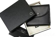 NEW MONTBLANC BLACK TEXTURED LEATHER CREDIT CARD HOLDER FLAP WALLET W/ID HOLDER