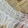 Floral Lace Edge Trim Tassel Curtain Wedding Dress Fringe DIY Sewing Craft