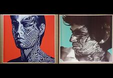 """Rolling Stones 24"""" x 26"""" Tattoo You 2 Pack Posters Album Mick and Keith CD"""