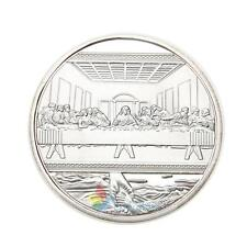 Jesus Last Supper Silver Plated Souvenir Coin Collection Collectible Christmas #
