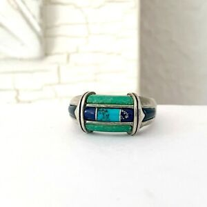 Southwest Carolyn Pollack CP Relios Sterling Silver 925 Turquoise Size 9 Ring