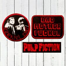 Set Pulp Fiction Embroidered Patches BMF Wallet Movie Logo Ezekiel 25:17 Vincent