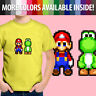 8-Bit Pixel Super Mario Bros Yoshi Retro Nintendo Unisex Kids Tee Youth T-Shirt