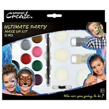 ☆X2☆ Face Paint Ultimate Party Pack Body Kit  65 faces Make Up Halloween rrp£10p