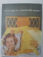 1954 yellow Kenwood bed blanket little girl curly hair vintage ad