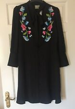 BNWT Ladies Asos Maternity Dress Size 10 Black Floral Smart Occasion Party Work