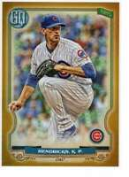 Kyle Hendricks 2020 Topps Gypsy Queen 5x7 Gold #72 /10 Cubs