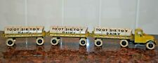 Vintage 1932 Mack Original Tootsie Toy Dairy Tractor & Tanker  W/ 2 Trailers