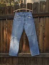 Vintage 1970s Levis 501 USA Jeans Selvedge Denim Redline W29 L30 Light Wash